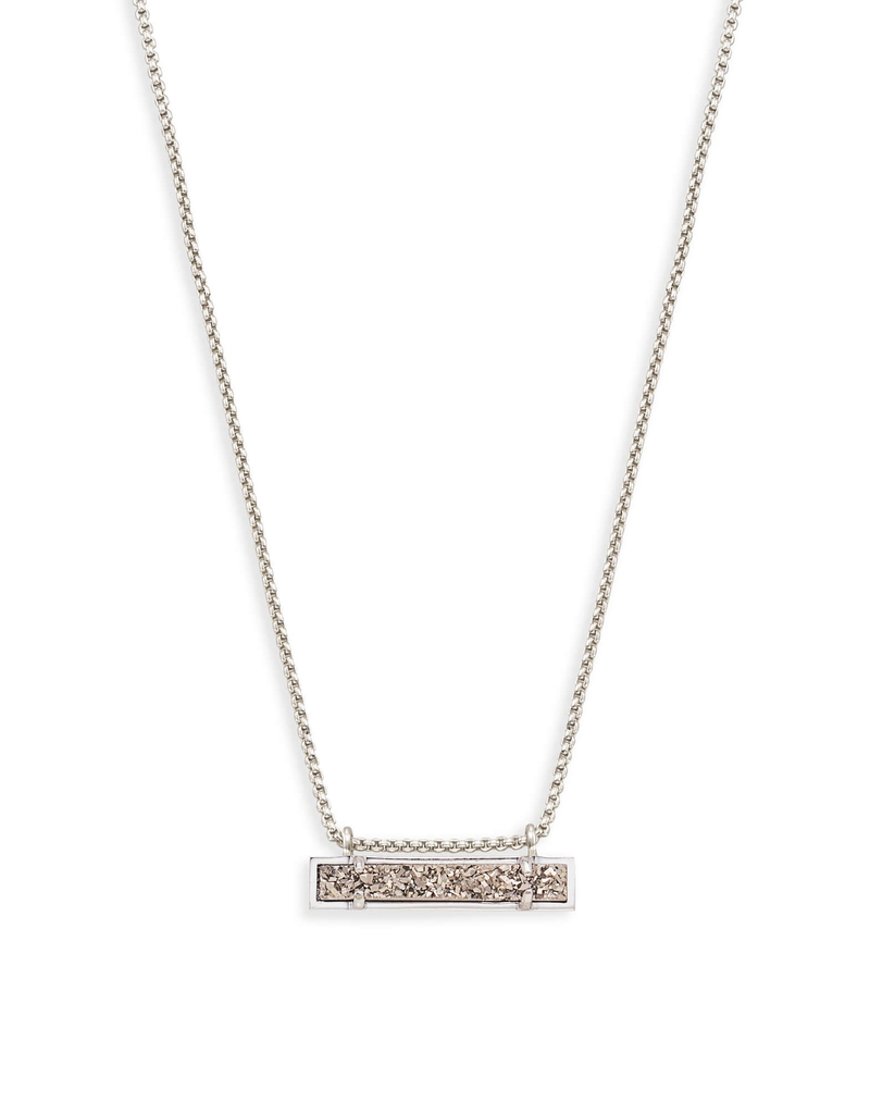 Kendra Scott Kendra Scott Leanor Necklace Rhod Platinum Drusy