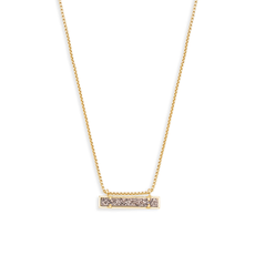 Kendra Scott Kendra Scott Leanor Necklace in Gold Platinum Drusy