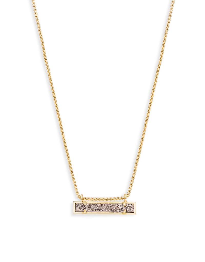 Kendra Scott Kendra Scott Leanor Necklace Gold Platinum Drusy