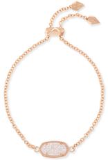 Kendra Scott Elaina Rose Gold Iridescent Drusy Bracelet