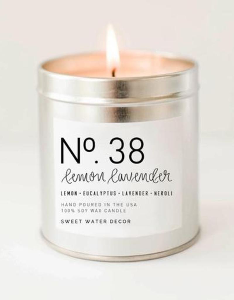 Lemon Lavender - Soy Silver Tin Candle