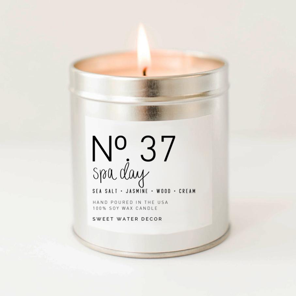 Spa Day - Soy Silver Tin Candle