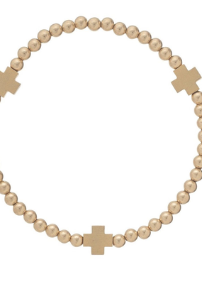 enewton enewton Cross Matte Gold Bead Bracelet