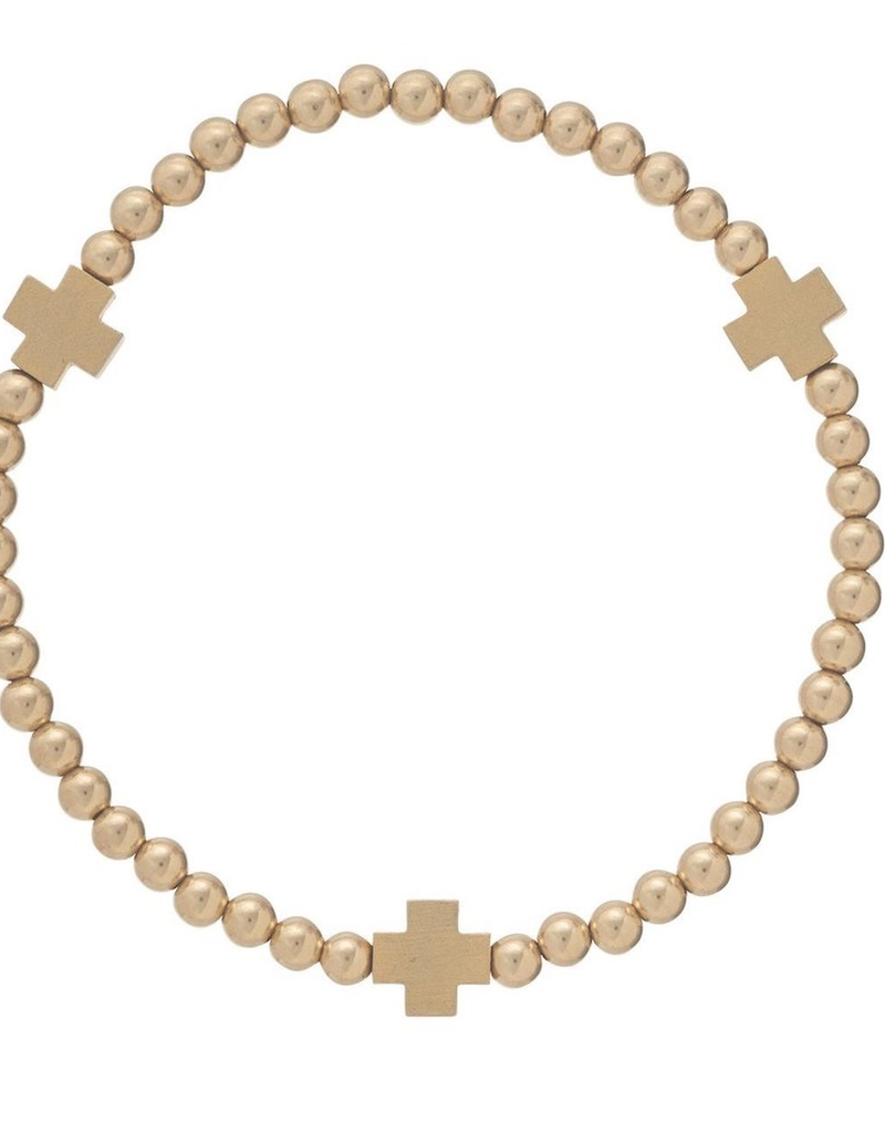 enewton enewton Cross Matte Gold Bead Bracelet