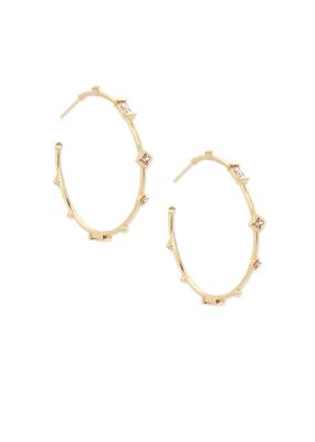Kendra Scott Rhoan Earring Gold Clear Crystal