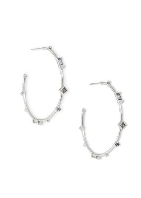 Kendra Scott Rhoan Earring Rhod Gray Crystal