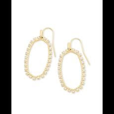 Kendra Scott Kendra Scott Elle Open Frame Crystal Drop Earrings in Gold