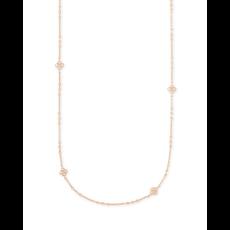 Kendra Scott Rue Long Strand Necklace Rose Gold Metal