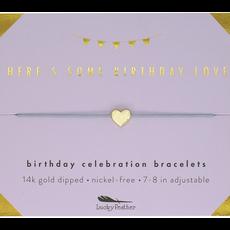 Birthday Celebration Bracelet Gold - Some Birthday Love