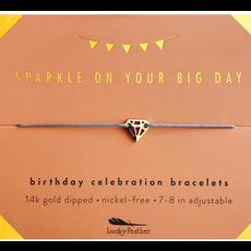 Birthday Celebration Bracelet Gold - Sparkly Birthday