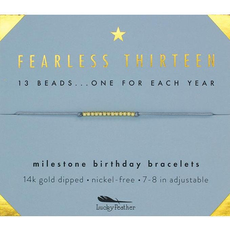 Milestone Birthday Bracelet Gold - Thirteen