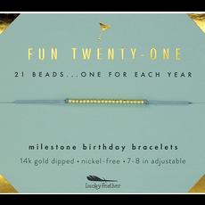 Milestone Birthday Bracelet Gold - Twenty-One