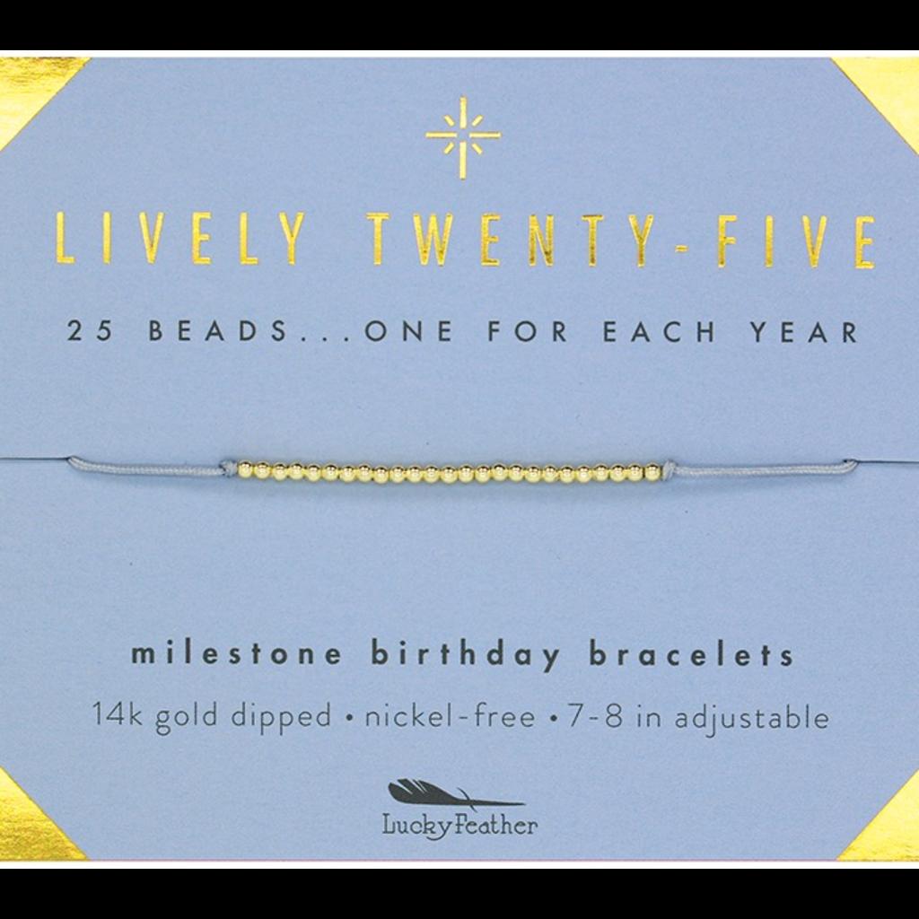Milestone Birthday Bracelet Gold - Twenty-Five