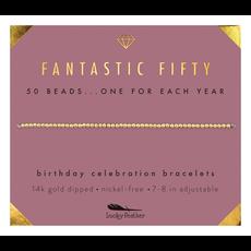 Birthday Celebration Bracelet Gold - Fifty