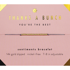 Sentiments Bracelet Gold - Thanks