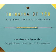 Sentiments Bracelet Gold - Thinking of You