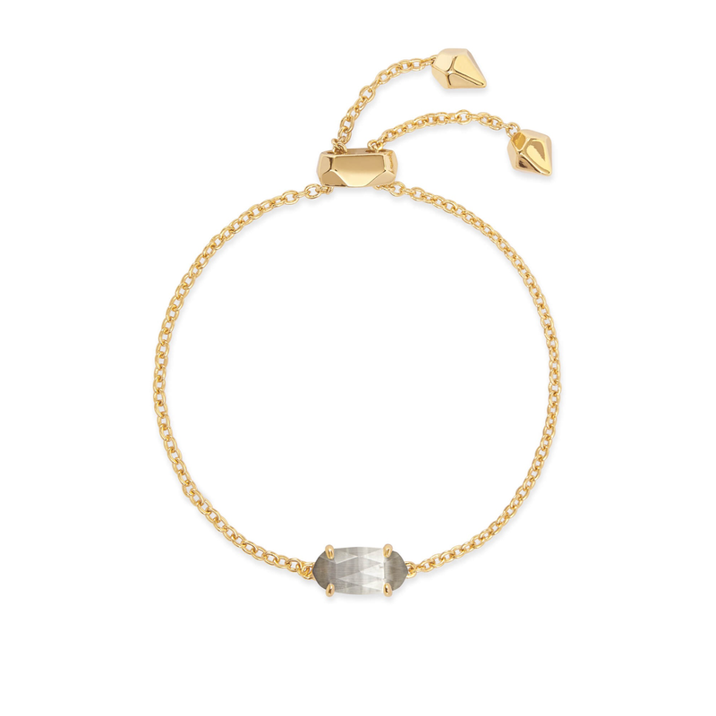 Kendra Scott Everlyne Bracelet in Gold Slate Cats Eye