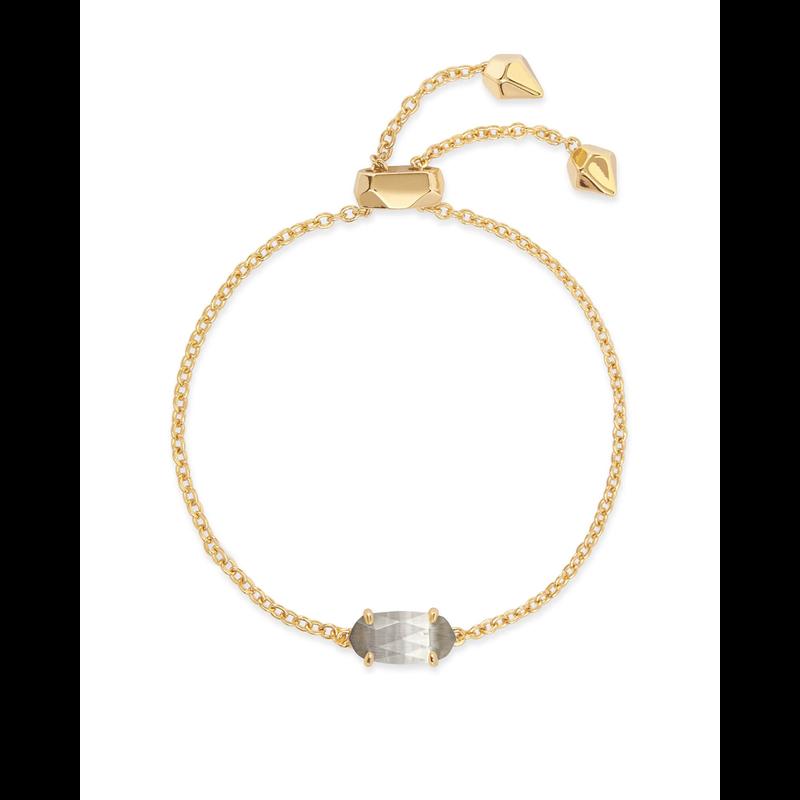 Kendra Scott Everlyne Bracelet in Gold Slate Cats Eye