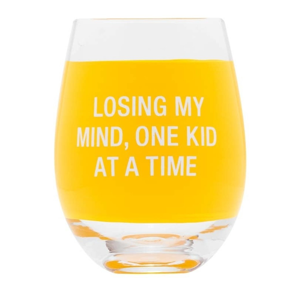 Losing My Mind Stemless Wine Glass