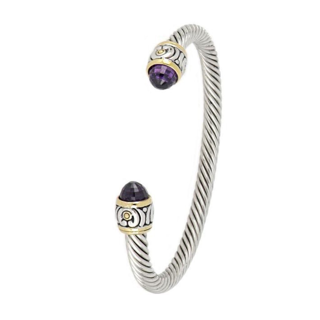 John Medeiros John Medeiros - Nouveau Small Wire Cuff Bracelet/Amethyst