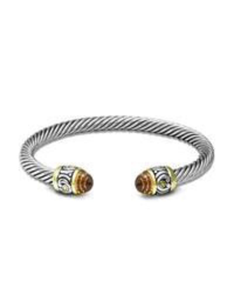 John Medeiros - Nouveau Small Wire Cuff Bracelet/Champagne
