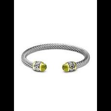 John Medeiros John Medeiros - Nouveau Small Wire Cuff Bracelet - Peridot