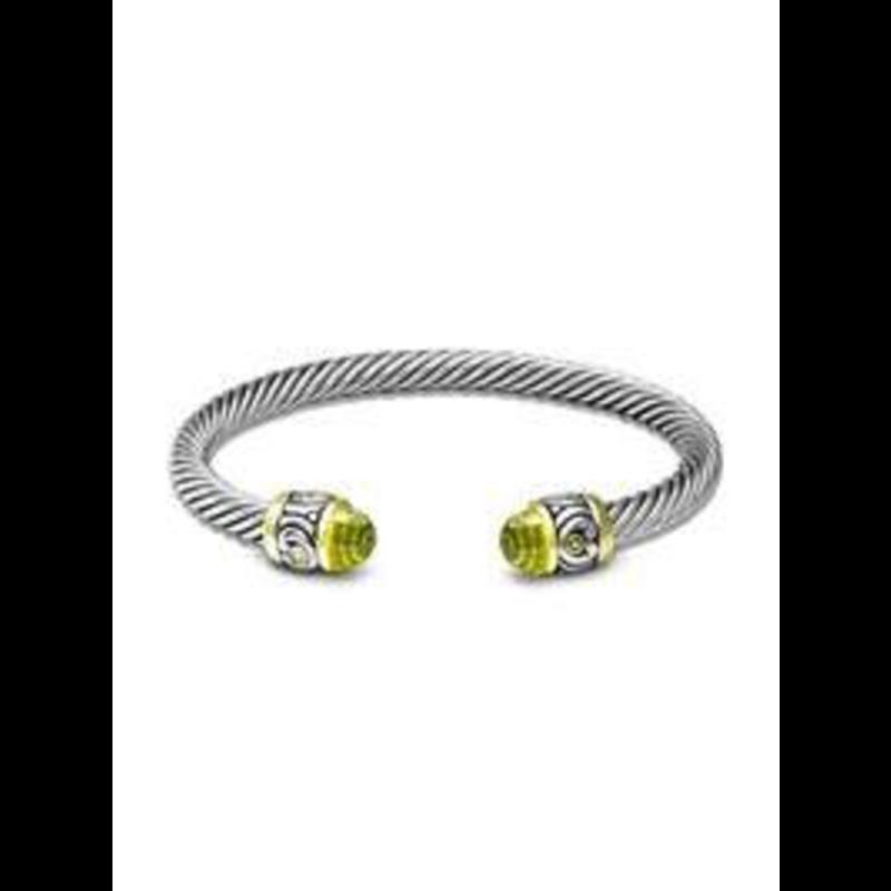 John Medeiros Nouveau Small Wire Cuff Bracelet - Peridot