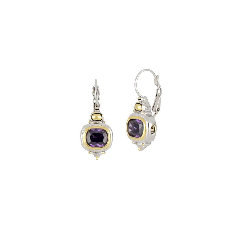 John Medeiros John Medeiros - Nouveau French Wire Earrings - Amethyst