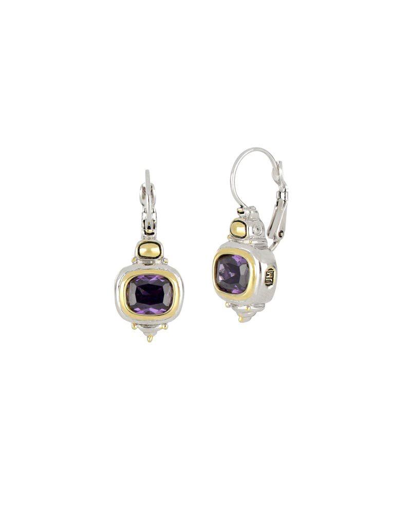 John Medeiros - Nouveau French Wire Earrings/Amethyst