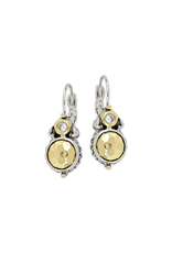 John Medeiros - Nouveau Collection Hammered French Wire Earrings