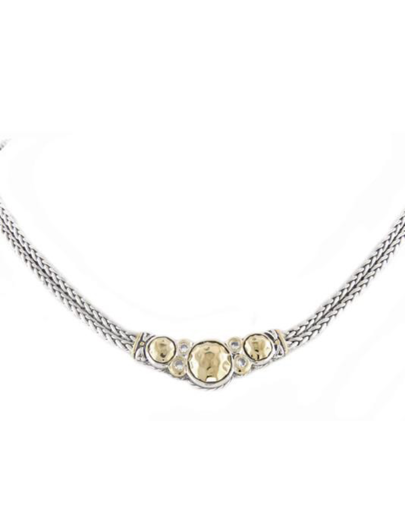 John Medeiros - Nouveau Collection Hammered Series Double Strand Necklace