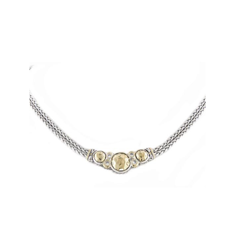 John Medeiros Nouveau Collection Hammered Series Double Strand Necklace