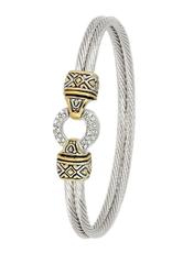 John Medeiros - Antiqua Pave Circle Double Wire Bracelet