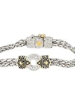 John Medeiros - Antiqua Pave One Circle Bracelet