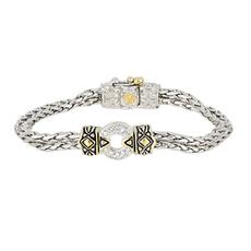 John Medeiros John Medeiros - Antiqua Pavé One Circle Bracelet