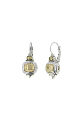 John Medeiros - Nouveau Gold Dome French Wire Earrings