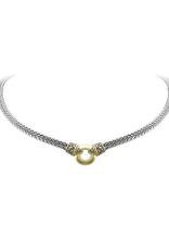 John Medeiros - Antiqua Gold Circle Double Strand Necklace