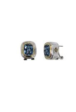 John Medeiros - Nouveau Small Post with Clip Earrings/Aqua