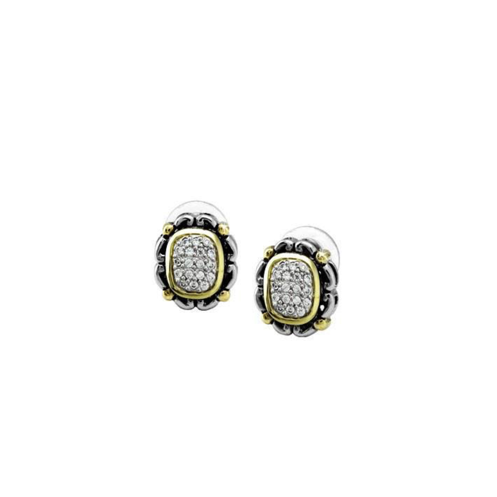 John Medeiros John Medeiros - Simplicity Pave Antiqua Oval Earrings