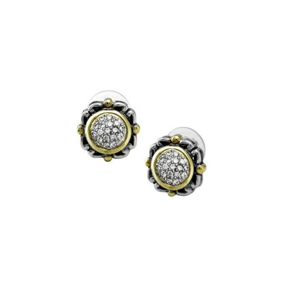 John Medeiros John Medeiros - Nouveau Collection Simplicity Pave Round Earrings