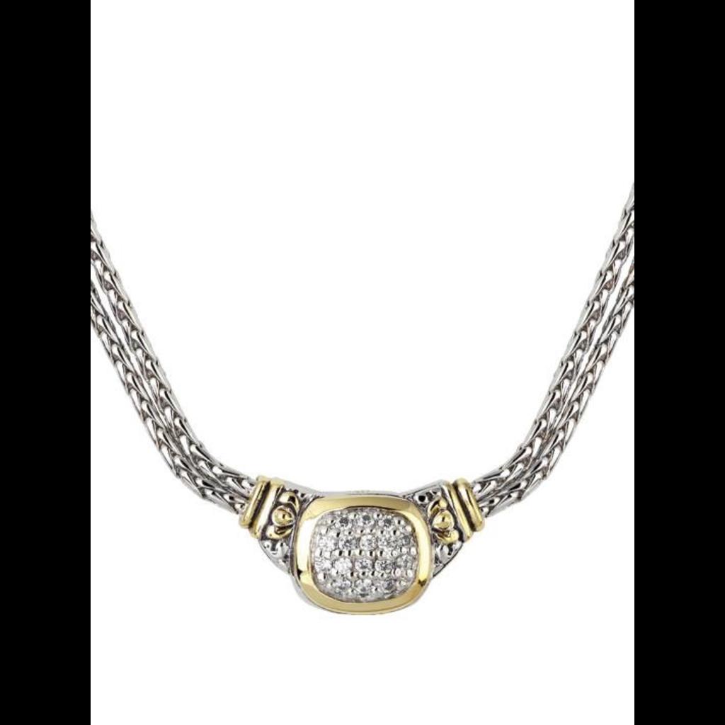 John Medeiros John Medeiros - Nouveau CZ Double Strand Necklace
