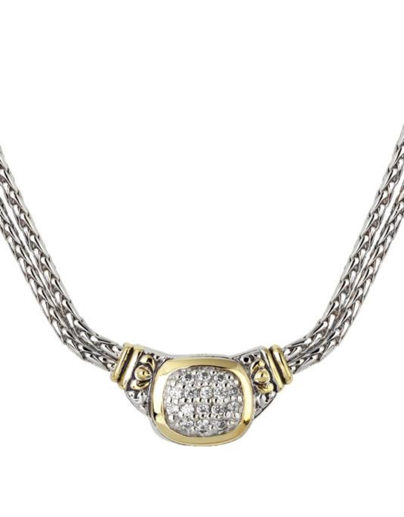 John Medeiros - Nouveau CZ Double Strand Necklace