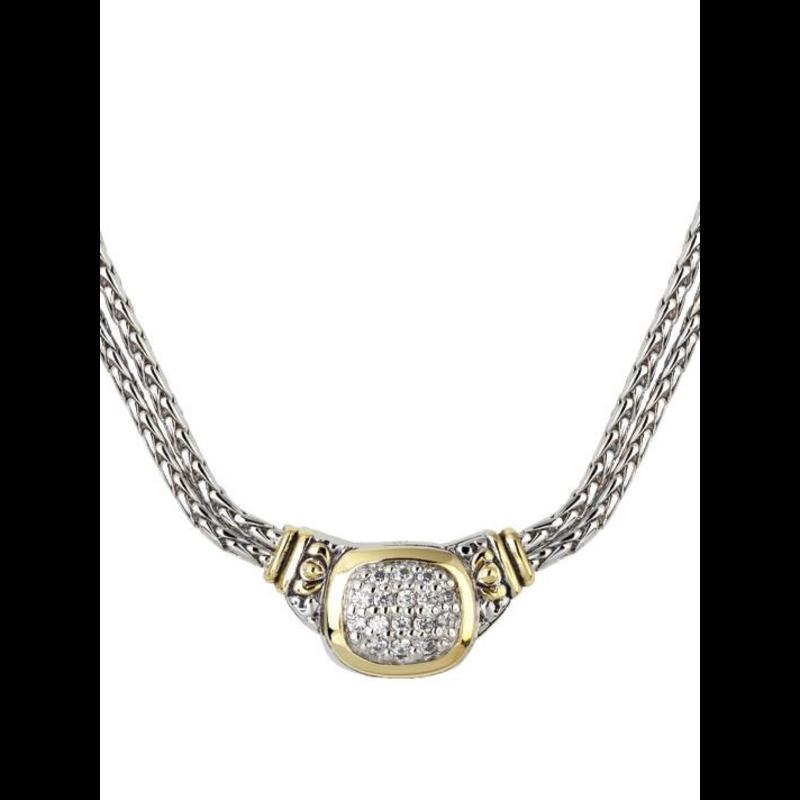 John Medeiros Nouveau CZ Double Strand Necklace