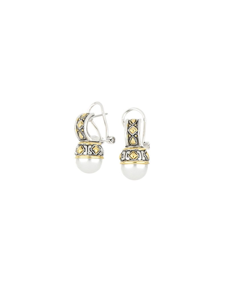 John Medeiros - 8mm Shell Pearl Omega Earring