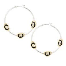 John Medeiros John Medeiros - Carvão Lava Large Hoop Earrings