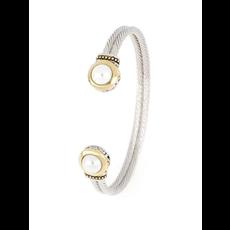 John Medeiros John Medeiros -Pérola White Seashell Pearl Cuff Bracelet