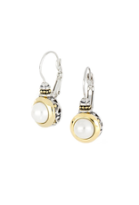 John Medeiros - Perola White Seashell Pearl French Wire Earrings