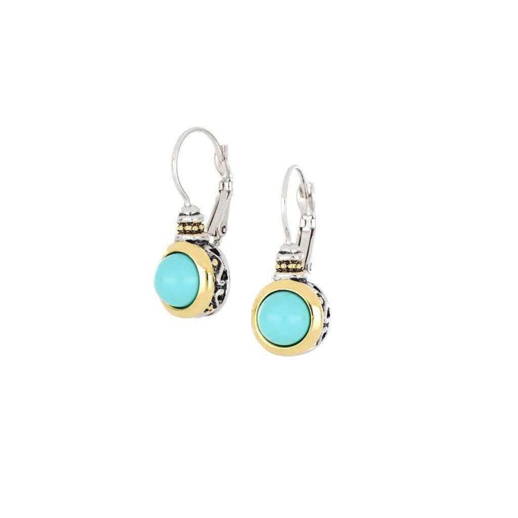 John Medeiros John Medeiros - Pérola Turquoise French Wire Earrings