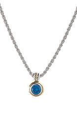 John Medeiros - Beijos 8MM Sapphire Bezel CA Pendant  Necklace