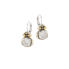 John Medeiros John Medeiros - Anvil Pavé Two Tone French Wire Earrings